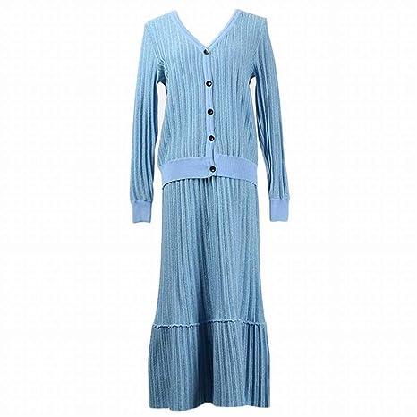 TYERY Temperamento Conmutar Western Striped Ladies Falda Traje de ...