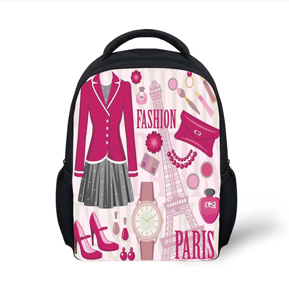 bf9b50ee9c37 Amazon.com: iPrint Kids School Backpack Girls,Fashion Theme in Paris ...