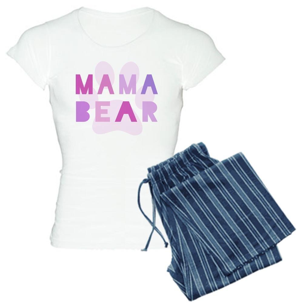 CafePress Mama bear pajamas - Womens Novelty Cotton Pajama Set, Comfortable PJ Sleepwear