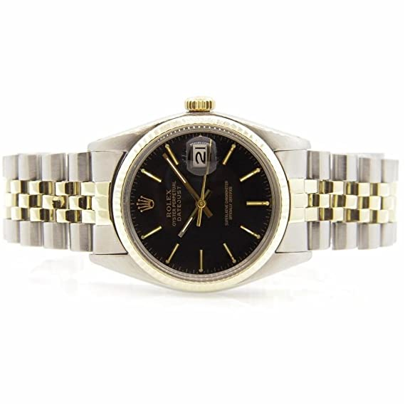 Analógico Rolex 16013certificado Reloj De Datejust Cuarzo Macho v8N0nwymO