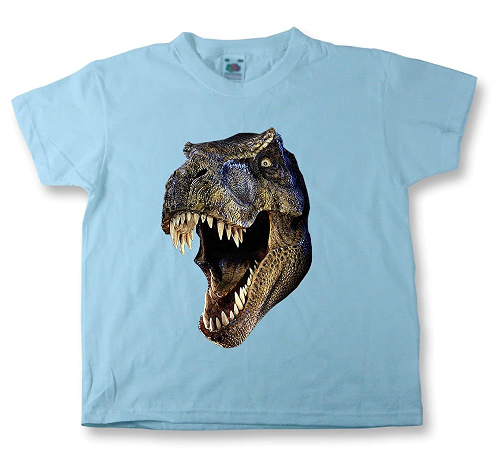 Kids Funny T Shirts T-Rex Dinosaur Childrens tshirts in Various Colors-Size Starlite