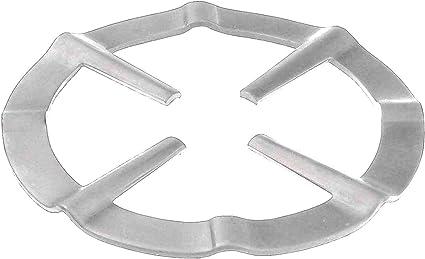 takestop® Reductor de 2 piezas de acero reductores de 13,5 cm para hornillo, placa de cocción, cafetera, horno, rejilla bajo olla cocina de gas y ...