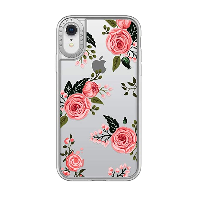 promo code 79fc5 4d387 Casetify CTF41395906311900 Grip Case for Apple iPhone XR Pink Floral Roses