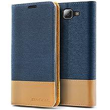 LG K4 2016 / Optimus Zone 3 Case, Evocel® [The Folio Series] 2-Tone Stylish Folio Case [Flip][Easy-Open] Seamless Magnetic Closure [Textured][Kickstand] Prop-Up Feature For LG K4 2016 / Optimus Zone 3 / LG Spree/ LG Spree , Blue