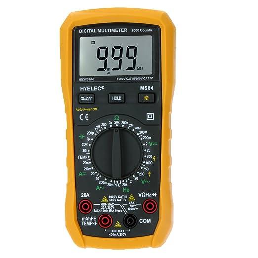 63 opinioni per HYELEC Multimetro Digitale MS84 2000 Conta Test per Resistenza Capacità