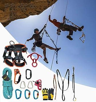 LSHUNYDE Cuerda de seguridad Equipo de escalada al aire libre ...