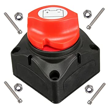 anjoshi battery switch master isolator cut off kill switch for rv battery marine  boat car vehicles 275/1250 amps waterproof: amazon co uk: sports & outdoors