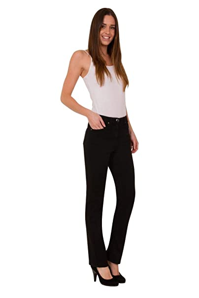 Ex High Street Brand Women's Straight Leg Stretch Denim Jeans with Button  and Zip Fastening   Fashion Wear for Women