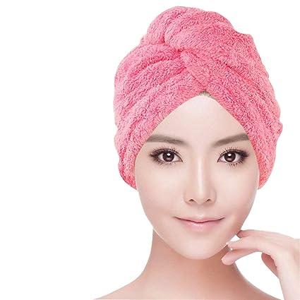 SwirlColor Dulce tipo seco de pelo del casquillo de fibra superfina toalla suave Baño abrigo de