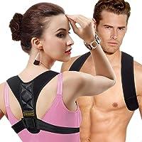 Posture Corrector for Women Men - Back Brace Shoulder Brace,Adjustable bodywellness Posture Corrector Brace Posture Belt Back Strap Bad Posture Upper Back Brace Posture Clavicle Support XL Size