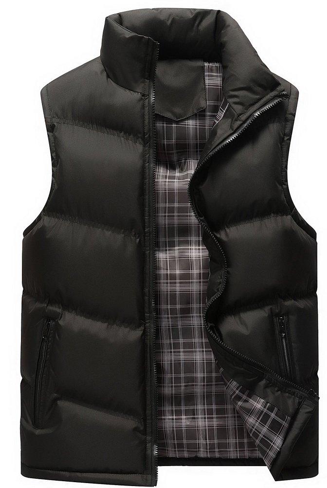 Vocni Men's Winter Full Zip Down Vest Outerwear Jacket Coat