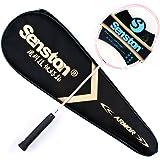 Senston Performance Raquette de Badminton Haute qualité Tout Graphite Unique(4U-G4/G5)7 Couleur Avec Raquette Couverture