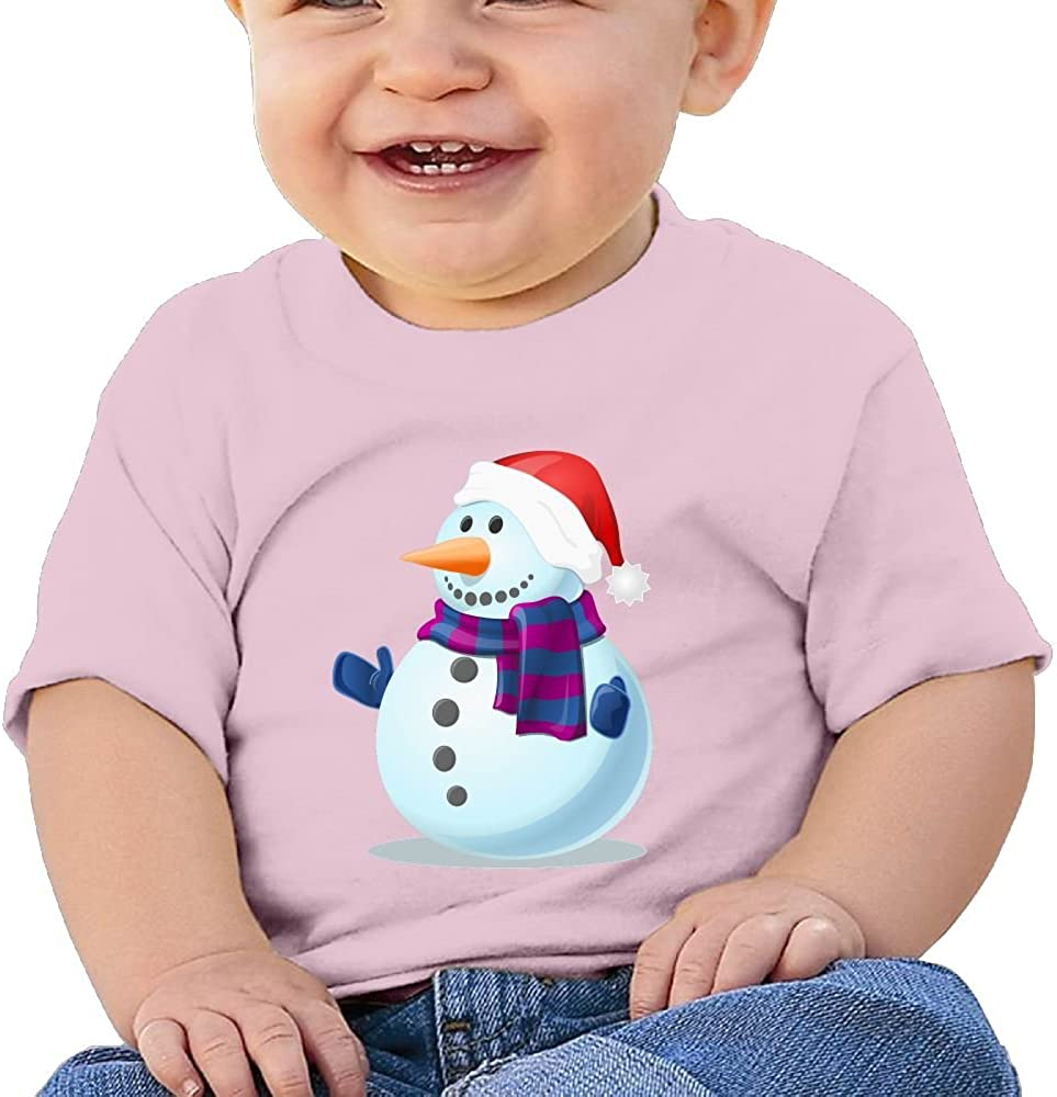FFWWLHR Santa Snowman Baby Novelty Tops Unisex Fashion Merry Christmas Cotton Baby Toddler T Shirt Tops