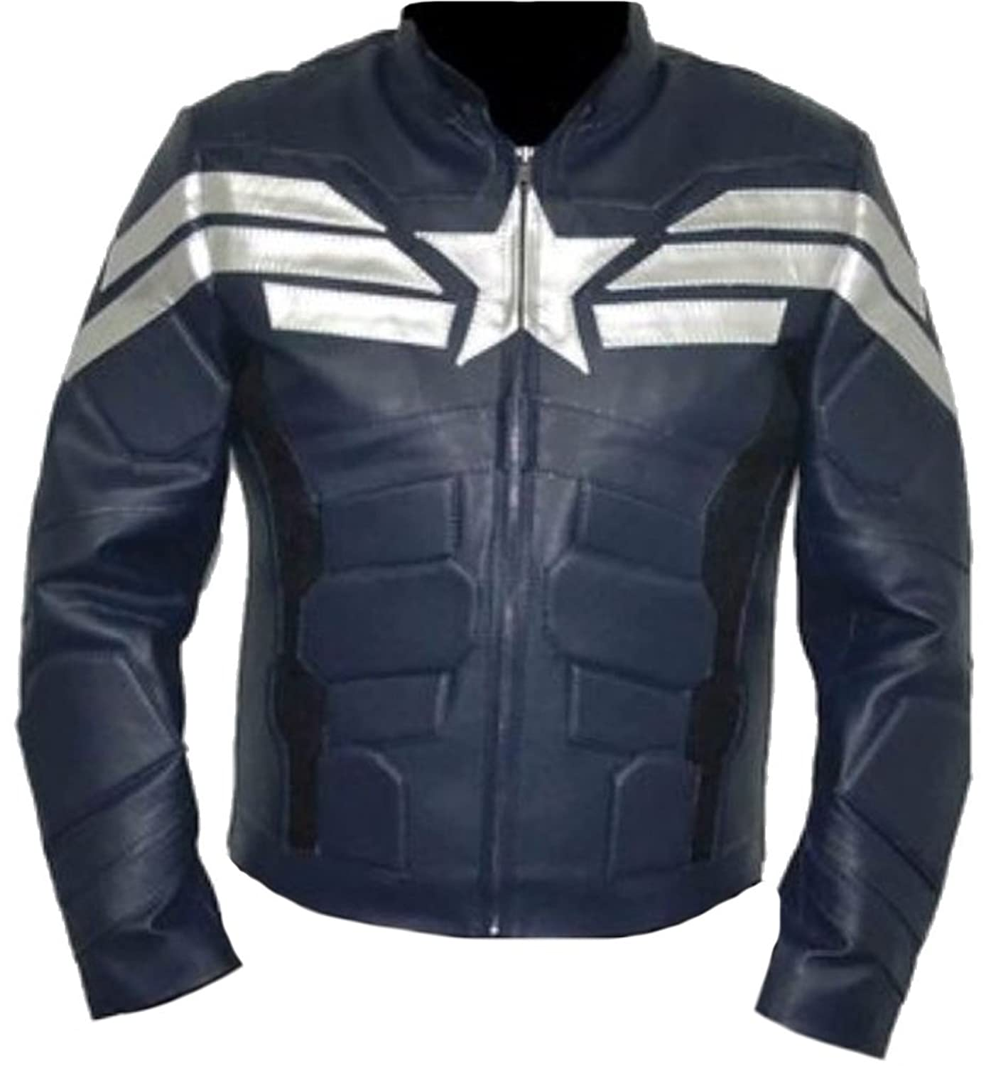 Classyak Men's America Fashion Real Leather Captain Top Quality Jacket