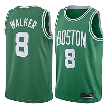 Hombre Mujer Ropa de Baloncesto NBA Celtics 8# Walker Jersey ...