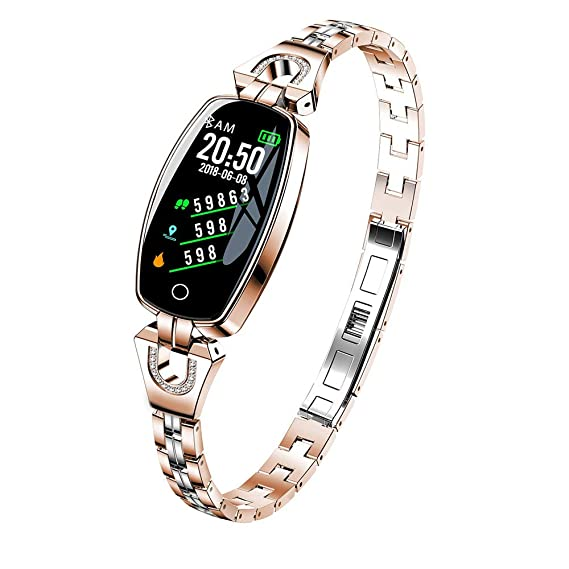 2018 Metal Smart Bracelet for Women Girls - Blood Pressure/Heart Rate Monitor Smart Bracelet