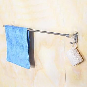 Aoligei Porte-serviettes espace aluminium porte-serviettes toilettes ...