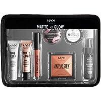 NYX Matte Glow Travel Kit Holiday Makeup Lipstick Balm Setting Spray Powder Set