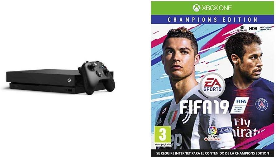 FIFA 19 Champions + Microsoft Xbox One X - Consola 1TB 4K HDR ...