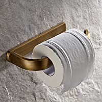 AUSWIND Antique Square Brass Toilet Paper Holder Without Cover, Bronze Oil Rubbed Wall Mounted Tissue Roll Holder
