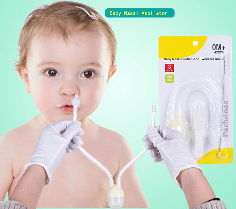 Nasal Aspirator Newborn Baby Nasal Aspirator 2018 Updated No Filters Needed Nose Sucker SciEdu