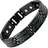 Willis Judd New Mens Black Titanium Magnetic Green Carbon Fiber Bracelet Free Link Removal Tool