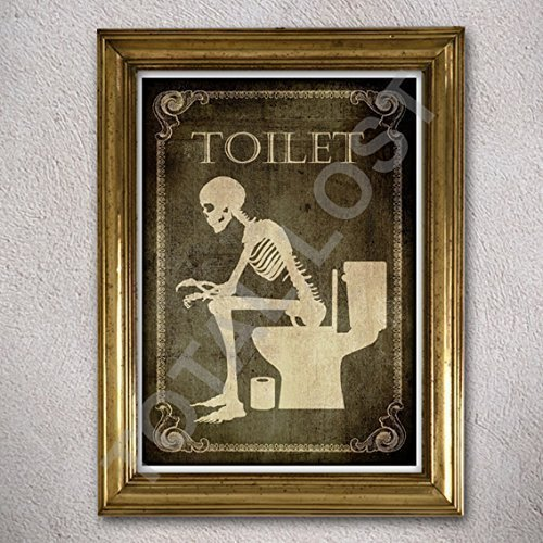 Toilet poster, Bathroom,Laundry,Bedroom,Kitchen,Office,Welcome,signs,horror,posters,skull,home decor,skeletons,wall decor,gothic,goth,wall decor