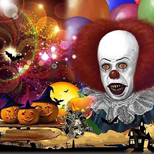 GladsBuy Halloween Clown 6' x 6' Computer Printed