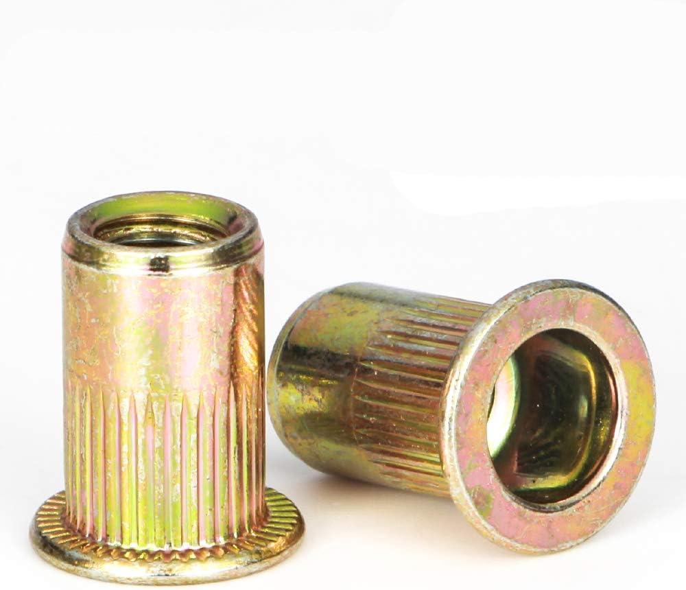 12 pcs 10-32 x 3//8 /& 12 pcs 10-32 x 5//8 stainless grille rivet screws /& nuts GM