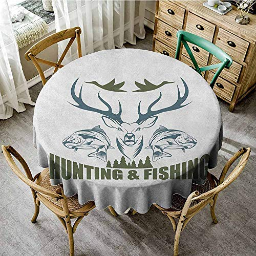 (Rank-T Round Tablecloth Natural 47
