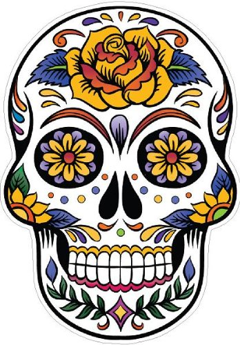 Day of the Dead Decal Rockabilly Rock Vintage Sugar Skull Sticker #32 ()