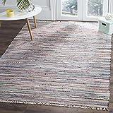 Safavieh Rag Rug Collection RAR121M Hand Woven and Multi Cotton Area Rug (8' x 10')