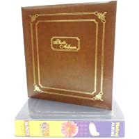 Natraj Stationery Products Vinyl Leather Cover Photo Album with 0.6 mm Thick Extra Clear PVC Film, 200 Pocket (Photos Size Supported: 4'x6')
