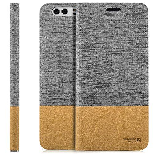 Funda Huawei Honor 5X Case Cubierta Carcasa Flip Cover Tapa Delantera con Billetera para Tarjetas, Cierre Abatible - Protectora de Alta Calidad   Gris Gris