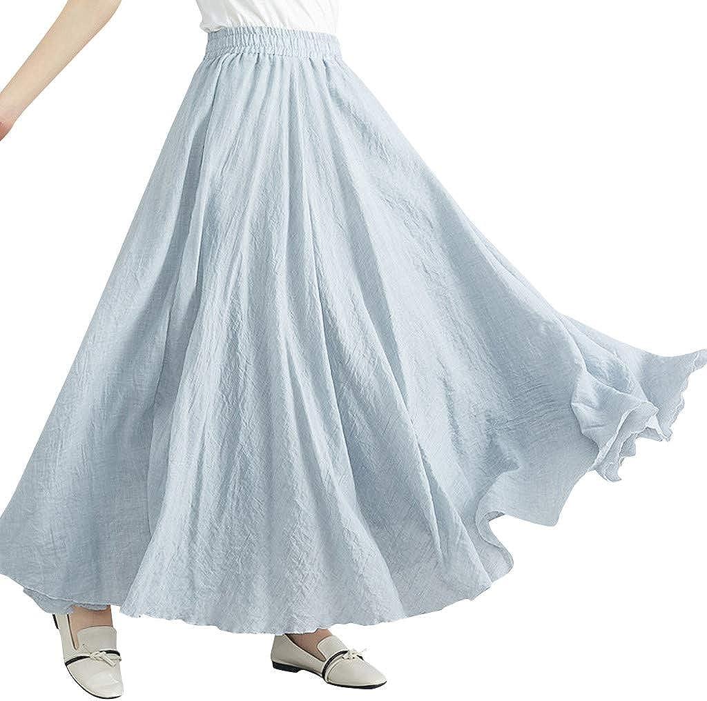 Vestidos Verano Mujer -Falda Mujer A-Line Falda Sección Larga ...