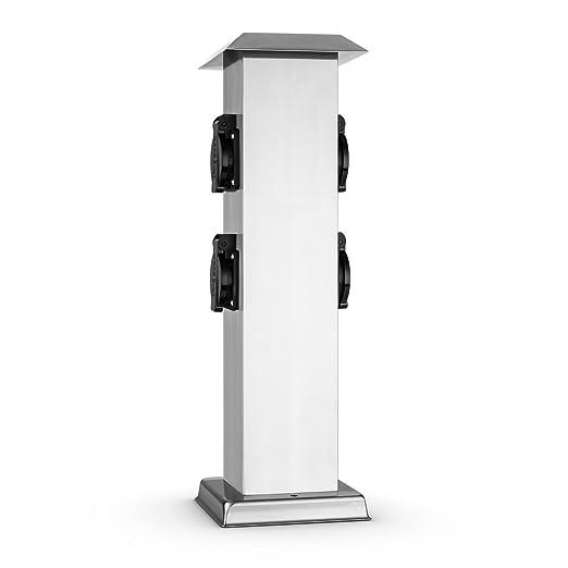 3 opinioni per Waldbeck Plug 4 Play Square Presa Elettrica a Colonna Da da Esterno / Giardino