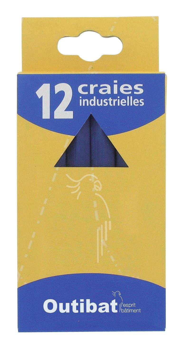 Craie industrielle Outibat - Couleur Bleu - Boîte de 12