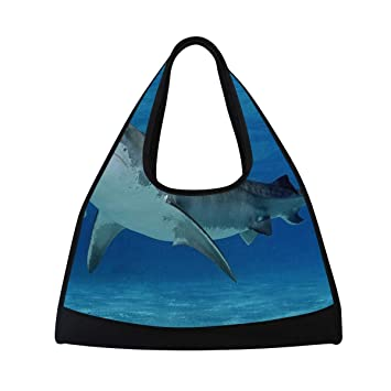 Amazon.com | Gym Bag Tiger Shark Women Yoga Canvas Duffel ...