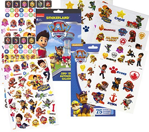 PAW Patrol Stickers & Tattoos Party Favor Pack  by Stickerla