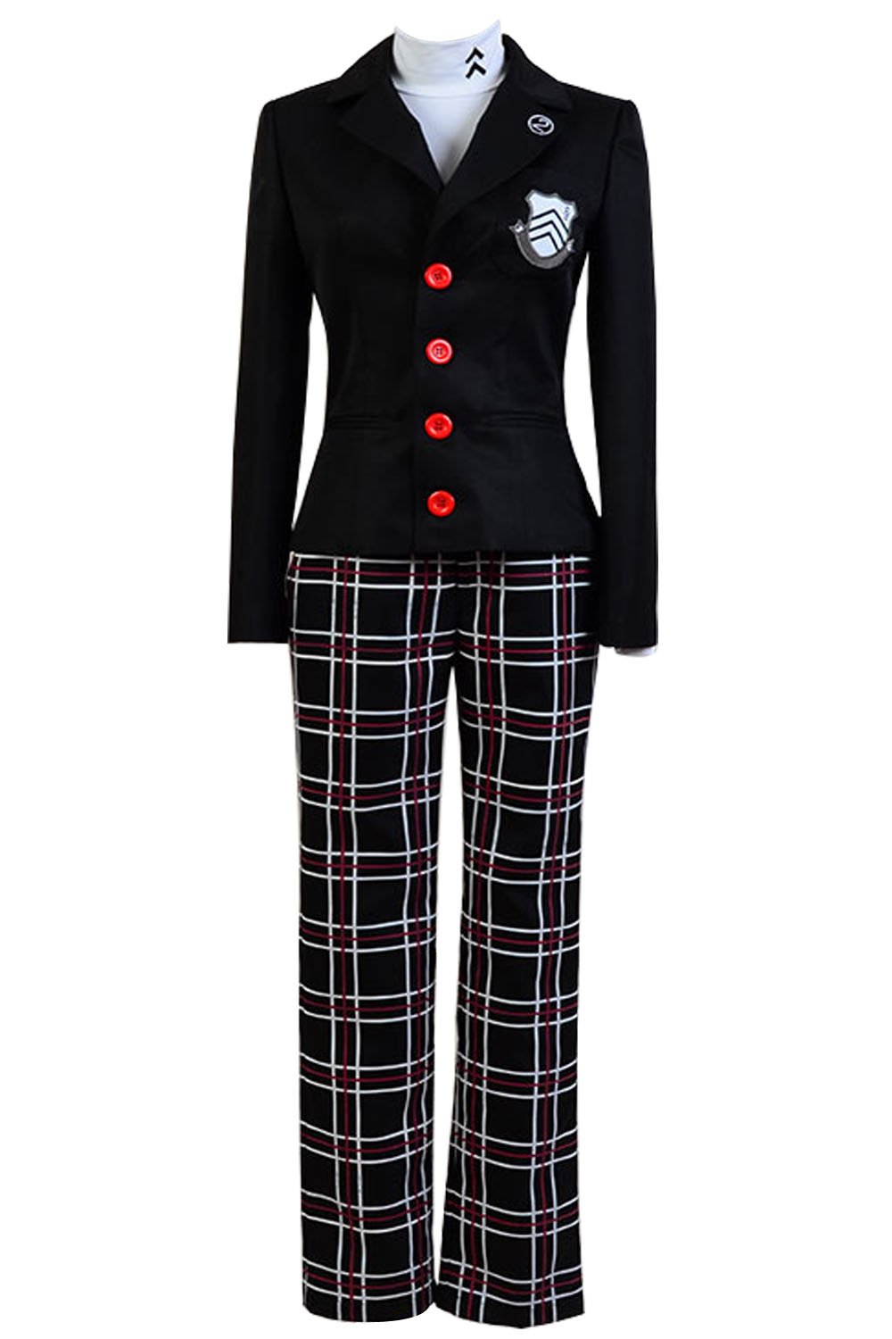 Ya-cos Persona 5 Protagonist Jacket Coat Top Cosplay Costume Attire Outfit Suit Uniform, Black, Large by Ya-cos