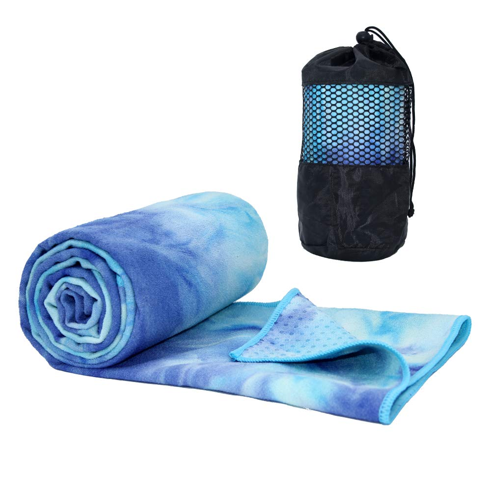 ATIVAFIT Non Slip Yoga Towel, Super Soft, Absorbent Mat Towel, Perfect Size for Hot Yoga, Pilates and Workout-188x64cm