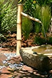 Bamboo Accents 36' Tall Outdoor Water Fountain Spout, Easy Install in Pond or Garden, Handmade Smooth Natural Split-Resistant Bamboo