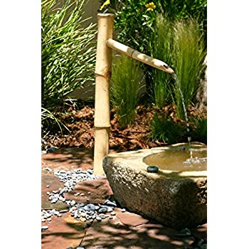 Amazon bamboo accents tall water fountain spout 36 tall kit bamboo accents tall water fountain spout 36 tall kit includes submersible pump for easy solutioingenieria Images