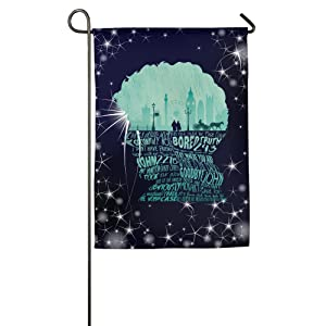 Printed Polyester Sturdy Back To Work Personalized Graphic Garden Flag.