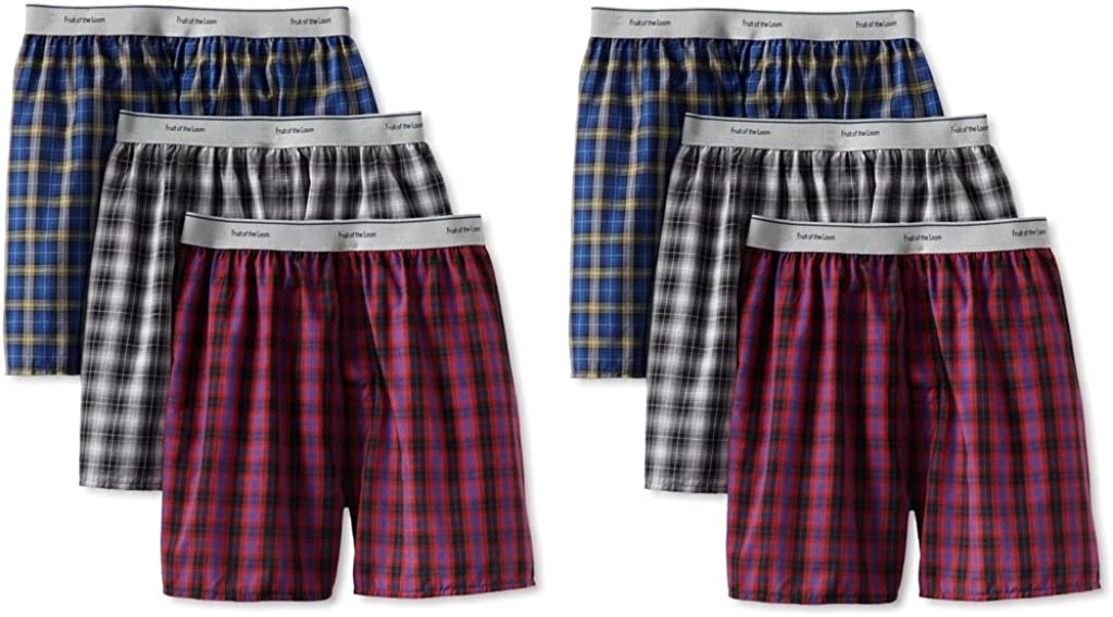 Pack of 3 Fruit of the Loom Little Boys Covered Waistband Knit Boxer Underwear