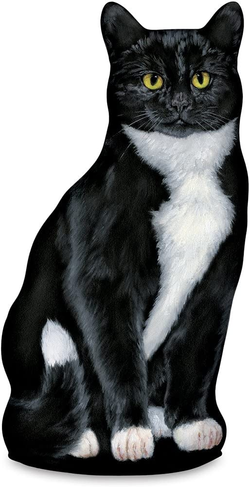 Fiddler's Elbow Tuxedo Cat Door Stop, Decorative Door Stopper, Interior, Cat Doorstop, Tuxedo Cat Statue
