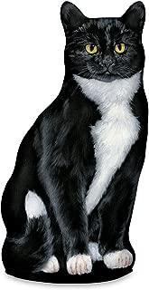 product image for Fiddler's Elbow Tuxedo Cat Door Stop, Decorative Door Stopper, Interior, Cat Doorstop, Tuxedo Cat Statue