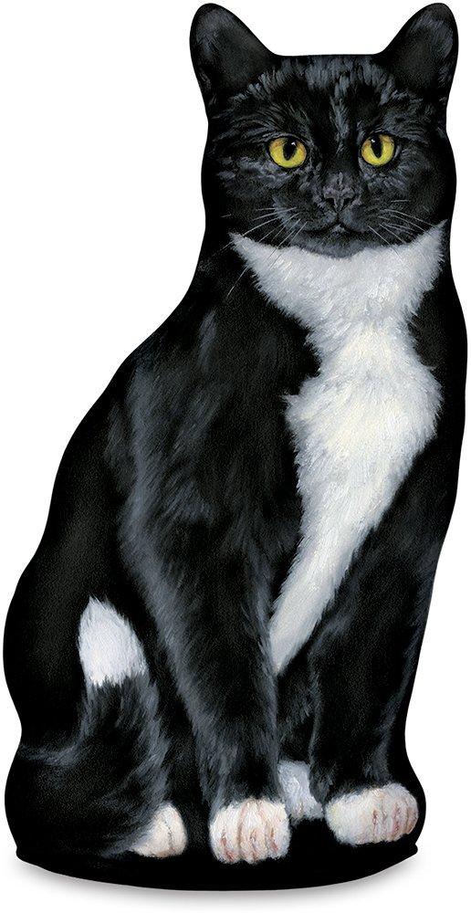 Fiddler's Elbow Tuxedo Cat Door Stop, Decorative Door Stopper, Interior, Cat Doorstop, Tuxedo Cat Statue by Fiddler's Elbow
