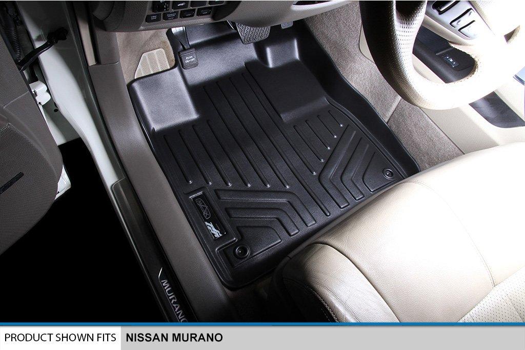 SMARTLINER Floor Mats 1st Row Liner Set Black for 2015-2017 Nissan Murano MAXLINER A0173