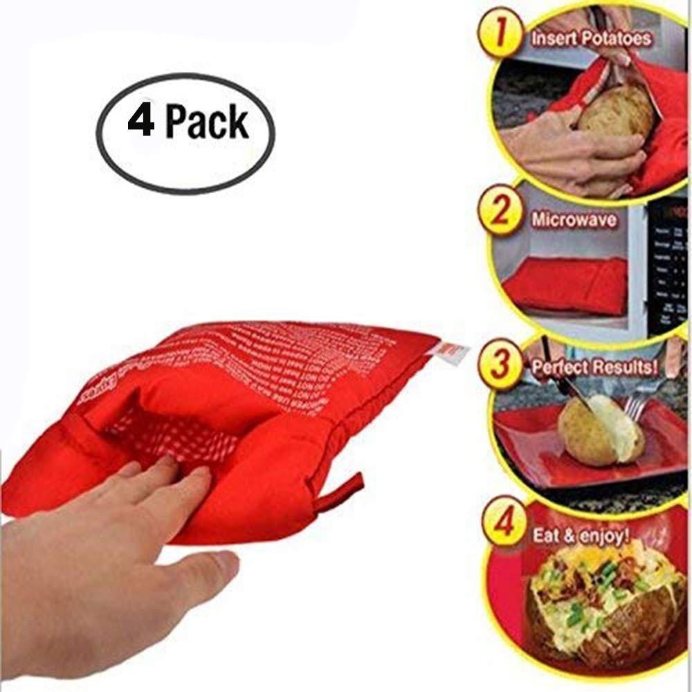 JanTeel Bolsa de Patata para microondas de 4 Piezas ...